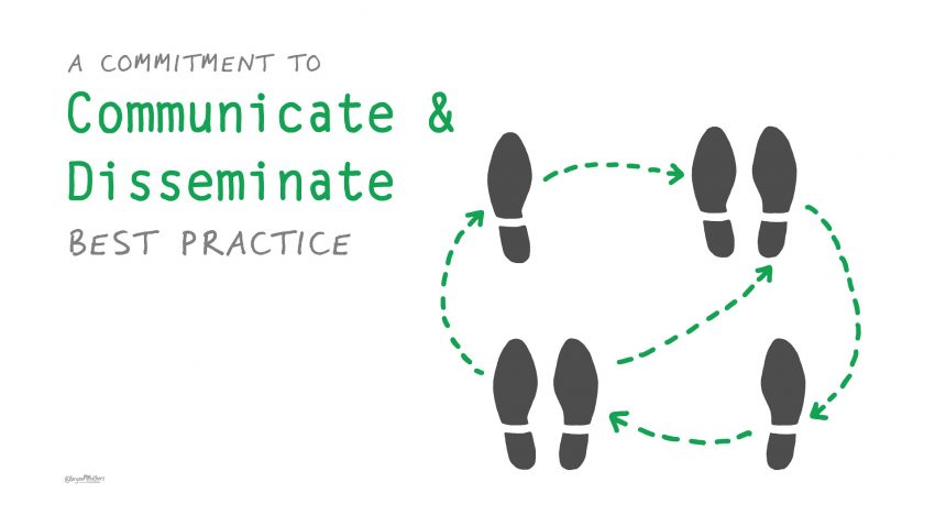 A commitment to communicate and disseminate practice